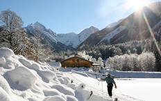 Die Waldhäuslalm im Winter